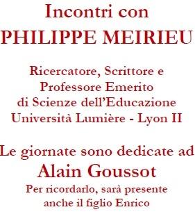 Incontri con Phlipille Meirieu
